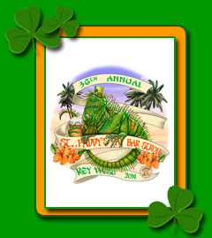 2011 St. Patricks Day Bar Stroll Key West T-shirt