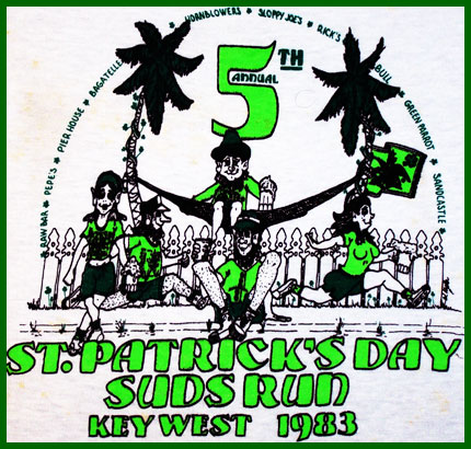 1983 St. Patrick's Day Bar None Suds Run T-Shirt